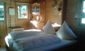 Holzhaus Schlafzimmer