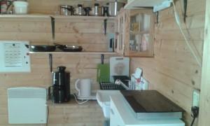 Küche Holzhütte